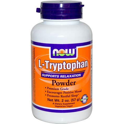 supplement l tryptophan now foods l tryptophan powder 2 oz 57 g iherb
