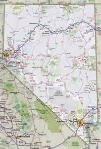 highway map with cities nevada road map