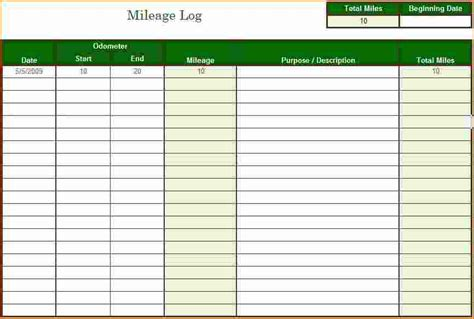 Mileage Log Excel 3 Mileage Tracker Excel Printable Receipt