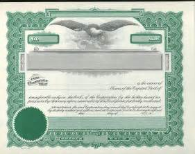 corporate stock certificate template free best photos of printable stock certificate template
