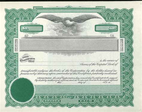blank stock certificate template free best photos of printable stock certificate template