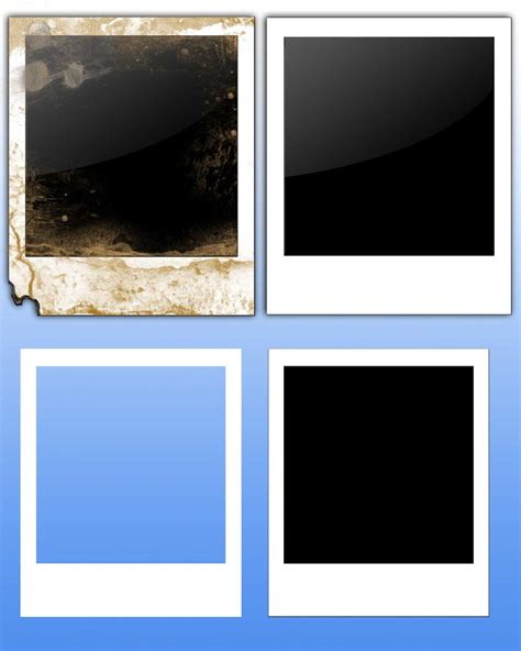 create template photoshop image gallery polaroid template
