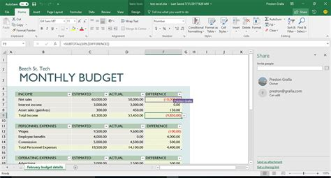 Live Spreadsheet by How To Use Excel S New Live Collaboration Features