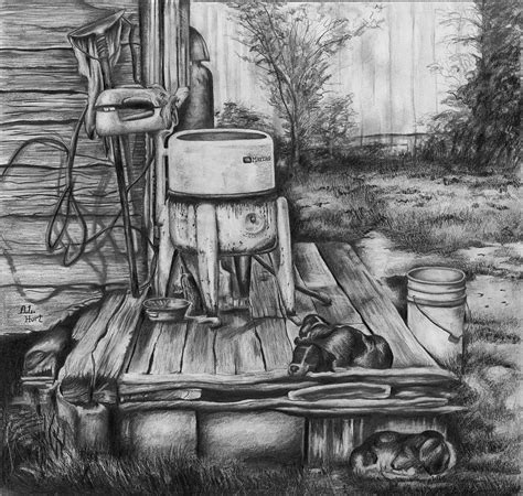 house porch drawing back porch drawing by anthony hurt