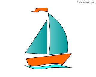 how to draw a boat for a kid fourpencil how to draw a boat for kids step by step