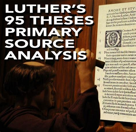 Luther S 95 Theses Primary Source Worksheet Renaissance