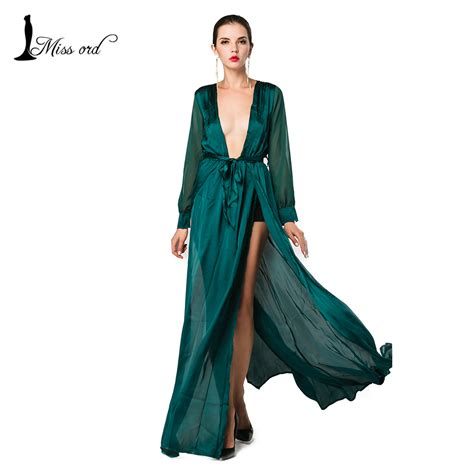 Set Maxi Dress Free Pashmina aliexpress buy free shipping 2016 v neck sleeved split green color maxi dress