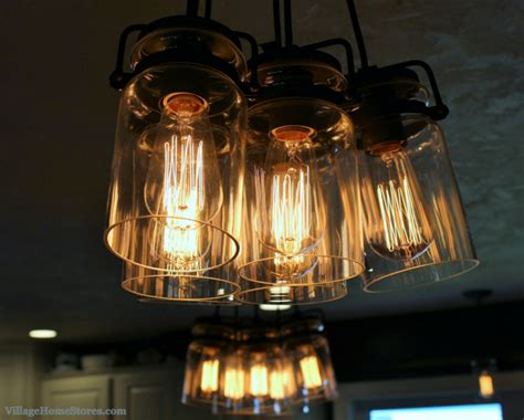Edison Island Light Kichler Brinley Edison Bulb Lights Above Island Villagehomestores Rustic Transitional