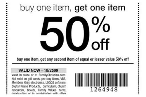 coupons for family christian stores