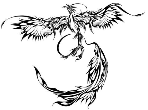 flying tribal phoenix tattoo design tattoobite com