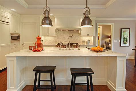 Kitchen Industrial Lighting Industrial Lighting Modernizes A Bistro Kitchen Decoist