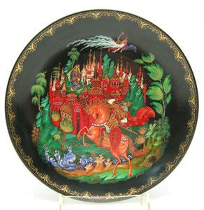 All About Russian Fairy Tale Plates   The Russian Gift Shop
