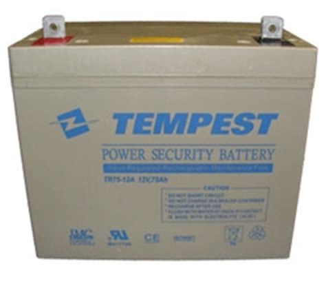 Chilwee Lead Acid Battery 12a 12v 75ah tr75 12a tempest agm valve regulated maintenance free sealed lead acid rechargeable