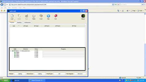 Ophcrack Tables by Ophcrack Tables Windows 7