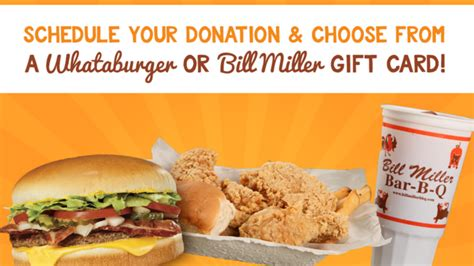 Bill Miller Gift Card - donate blood and get a whataburger or bill miller s gift certificate kabb