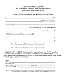 parental consent form template travel parental consent form usa child travel consent child
