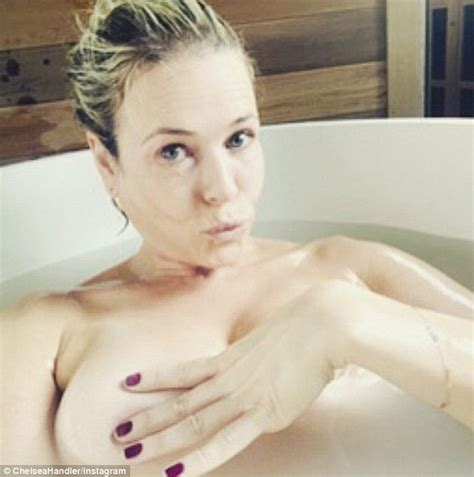 naked bathtub pictures chelsea handler shares another naked photo on instagram