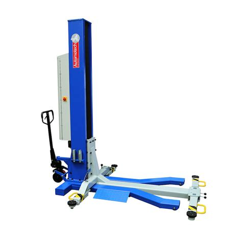Battery Operated L Post by As 7251dc Battery Operated Mobile Single Post Vehicle Lift
