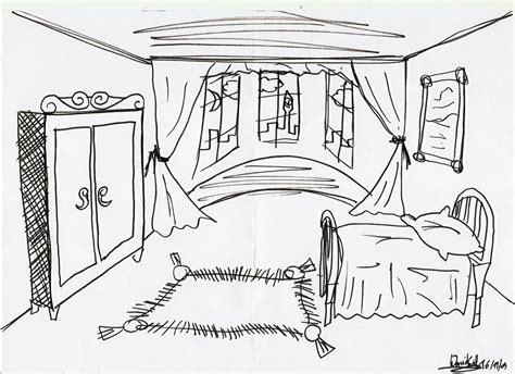 bedroom sketch templates