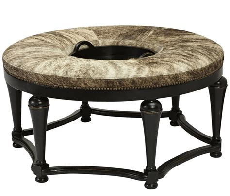 Western Ottomans Brindle Ottoman With Tray Western Ottomans Free Shipping