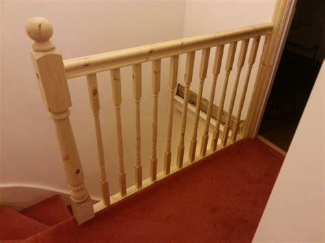 replace half wall with railing balusters staircase joy