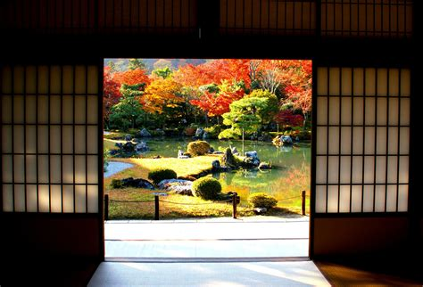 traditional japanese garden in autumn a traditional japane flickr