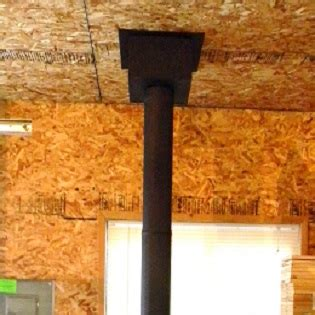 stove pipe through ceiling chimney pipe installation for wood stoves through a flat