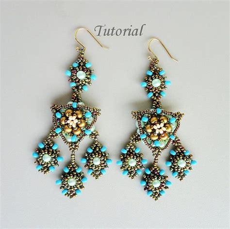 jewelry tutorials earrings pdf for beadwoven earrings beading tutorial beadweawing