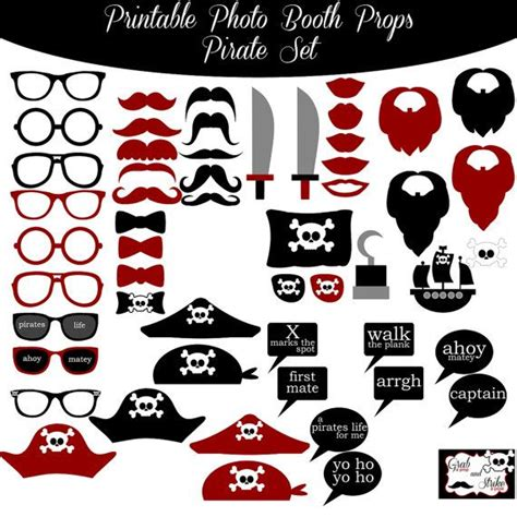 printable pirate photo booth props 72 best images about photobooth ideas on pinterest
