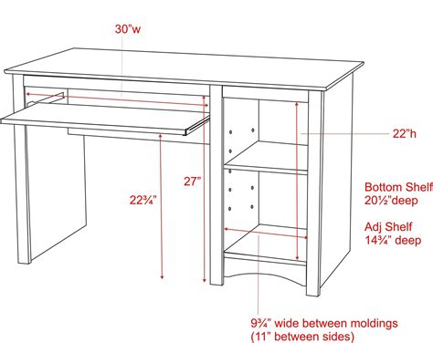 Desk Top Height by Standard Computer Desk Height