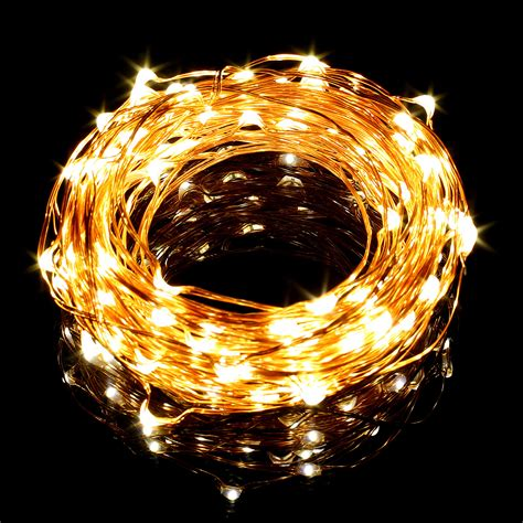 33ft Warm White Copper Wire Led String Lights For Wire Lights