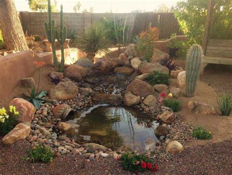 designing desert water gardens ideas  desert