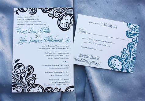 Reception Invites After Destination Wedding