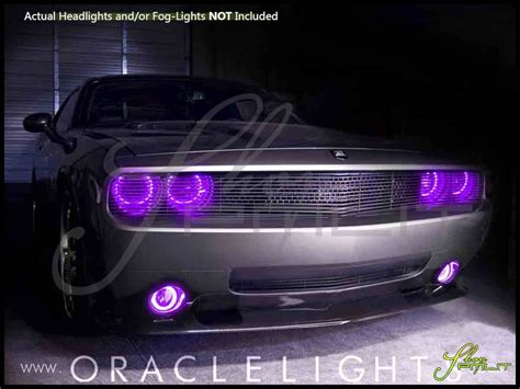 Purple Halo Lights by Oracle 08 14 Dodge Challenger W Pro Led Dual Color Halo