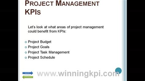 project management kpi template project management kpis exles