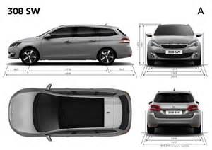 Peugeot Dimensions Peugeot 308 Sw Dimensions Ext 233 Rieures Et Int 233 Rieures