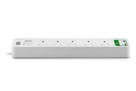 apc essential surgearrest 5 outlets with 5v 2 4a 2 port usb charger 230v uk ebuyer