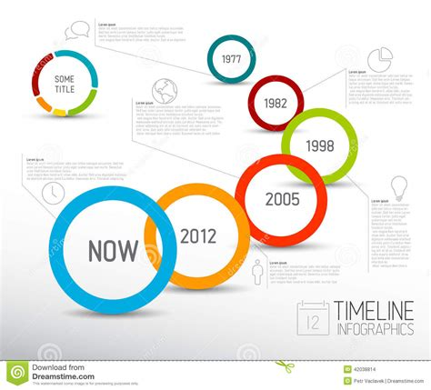 sle budget timeline infographic light timeline report template with circles