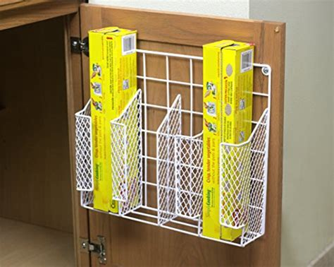 Kitchen Pantry Door Storage Racks by Kitchen Wrap Organizer Storage Foil Shelf Rack Wall Mount