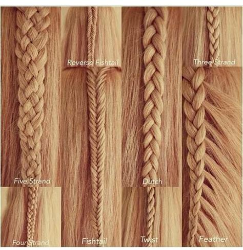all kinds of hair style that have braides different types of braids you can try hair styles