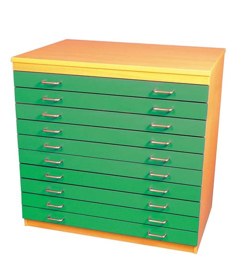 Paper Drawers by A1 Paper Storage 10 Coloured Drawers