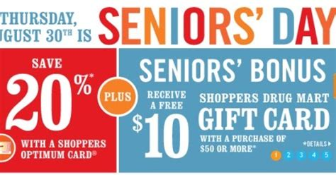 Save Mart Gift Cards - canadian daily deals shoppers drug mart seniors day save 20 off 10 free gift