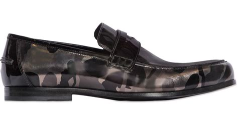 camo loafers jimmy choo camo printed leather loafers in metallic
