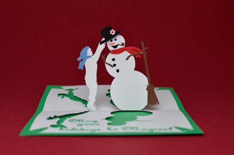 snowman templates for cards pop up card magical snowman tutorial creative