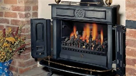 Franklin Gas Fireplace by Originally Patented In 1742 By Benjamin Franklin The