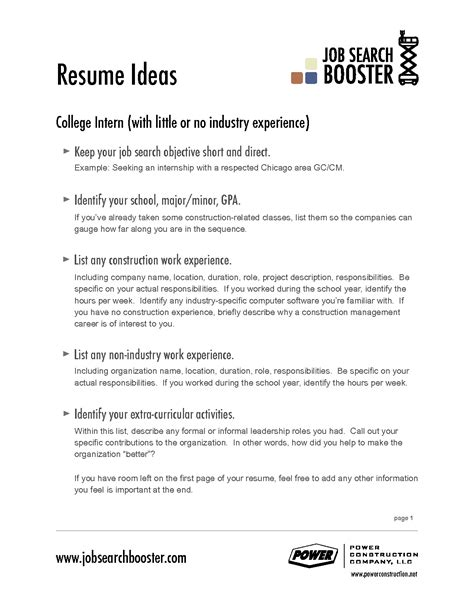 examples of resume objectives districte15 info