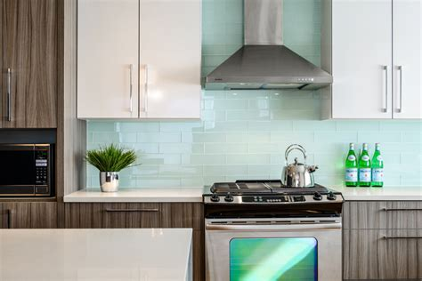 Contemporary Kitchen Backsplashes by Contemporary Townhome Km Interior Design Services