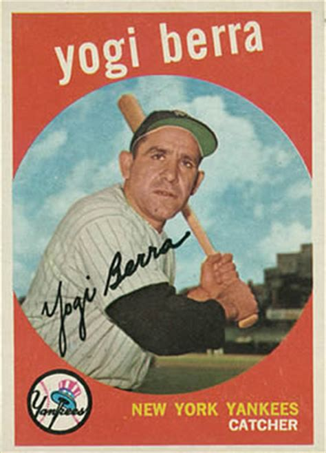 1959 topps yogi berra #180 baseball card value price guide
