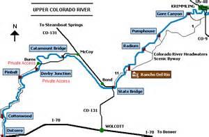 colorado river fishing map rancho on the colorado river river map