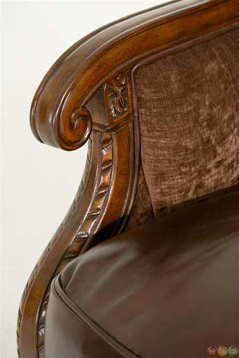 leather upholstery trim michael amini windsor court leather and fabric wood trim